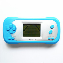 New arrival Cheap SY-717 children intelligence Drag racing 1.8Inch game player with Light Display handheld Game free shipping