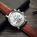 ORKINA 2019 Neue Herren Uhren Top-marke Luxus Voller Kalender Tourbillon Automatische Mechanische Armbanduhr Datum Tag Erkek Kol Saati
