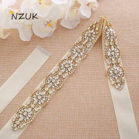Rhinestones Wedding Belt Pearls Bridal Belt Flower Belt Crystal Sash For Wedding Prom Gown ZZY190G