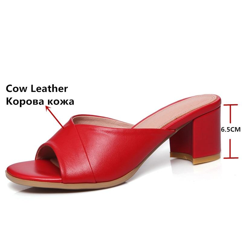 Sandales Nu Talons Flambant Neuf Chaussures Pour Femelle Fedonas À Chaussons Noir Confort pieds Hauts rouge Femme Rouge En Véritable Noir Cuir Femmes D'été K1J5culT3F