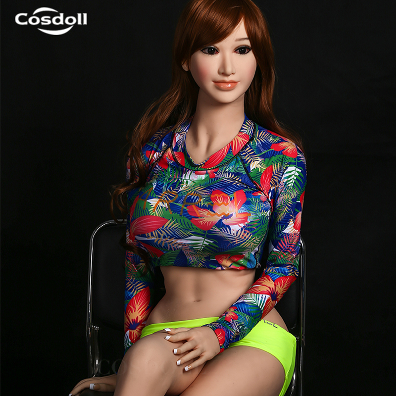 Cosdoll <font><b>158cm</b></font> <font><b>Sex</b></font> <font><b>Doll</b></font> Lovely Japanese <font><b>Doll</b></font> Lifesize TPE Silicone <font><b>Sex</b></font> Toys with Real Anus Vagina Breasts Free shipping image