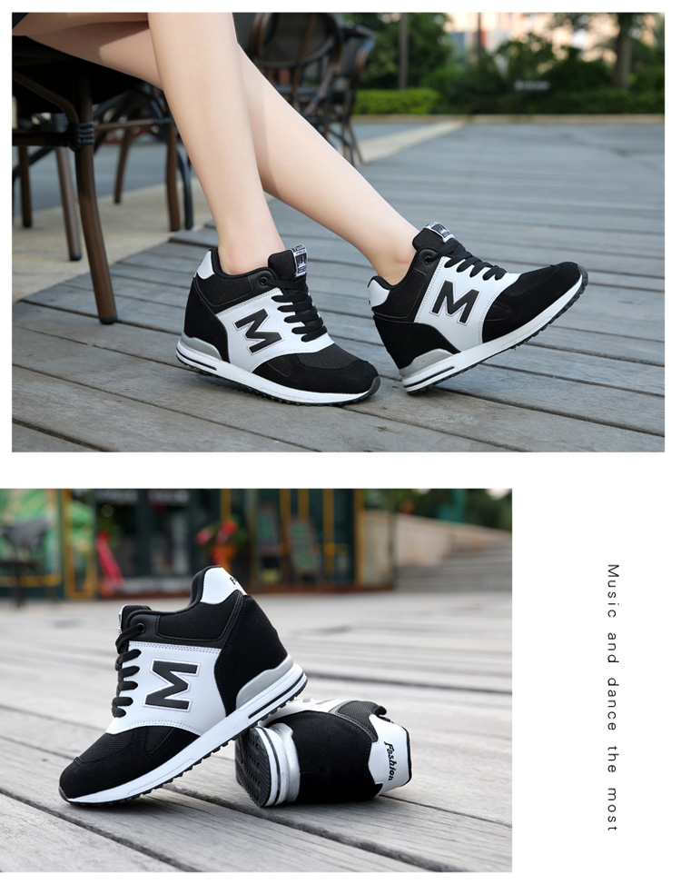 Height Increasing Wedges Shoes Woman Fashion Spring Lace Up High Top Women Casual Shoes Cow Suede Women\'s Vulcanize Shoes ZD36 (20)
