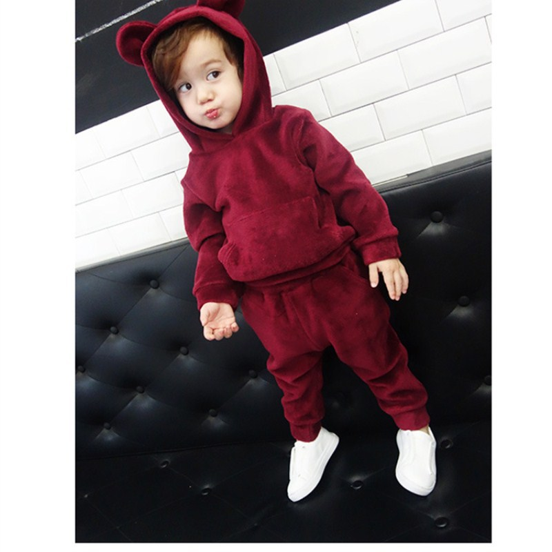 Gold Velvet SuitS Boys Spring Autumn Models children's Sets Kids Girl Suits Children Hooded Casual Pullover Two-pieces Suit spring autumn kids clothes sets for boys girls hooded sweatshirts pants children gold velvet clothing suits
