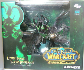 Wow Demon Hunter Action Figure DC Unlimited Series 5 13 inch Deluxe Boxed Demon illidan Stormrage WOW PVC Figure Toy