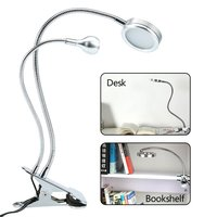 USB LED Desk Lamp With Clip 2 Heads LED Dual USB Flexible Table Lamp Led Clip