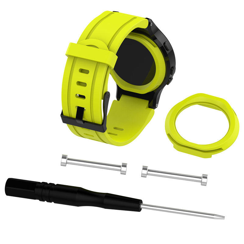 Nuovo arrivo Elegante Orologio Sostituibile Wristband per Garmin Forerunner 225 della Gomma di Silicone Watch Band Strap