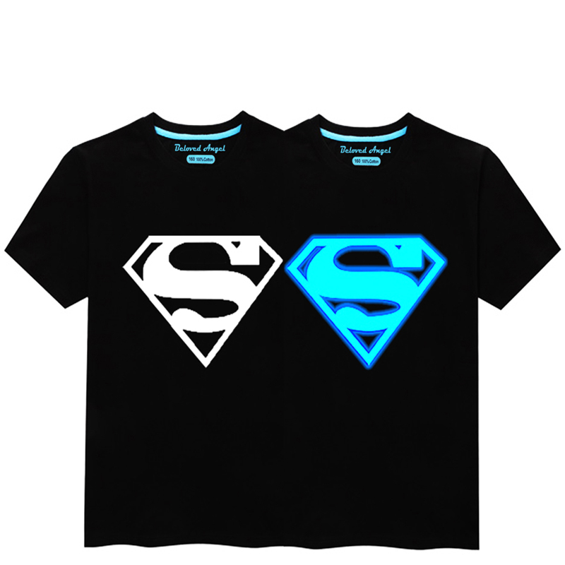 HTB1Gnh1R3HqK1RjSZJnq6zNLpXay - Luminous Short Sleeves T-Shirt For Boys T Shirt Spiderman Christmas Teen Girls Tops Size 3-15 years Teenage Toddler Boy Tshirts