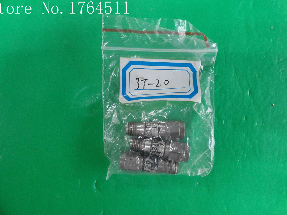 [BELLA] WEINSCHEL 3T-20 DC-12.4GHz 20dB 2W SMA Coaxial Fixed Attenuator  --3PCS/LOT