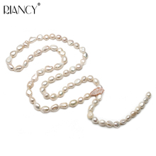 Fashion Pearl Jewelry Baroque Necklace Natural Freshwater Pearl Sweater Chain Accessories Leaves pearl Necklace For Women gift trendy natural pearl chain necklace for lady anniversary jewelry gift 11 13mm multicolor baroque freshwater pearl necklace feige