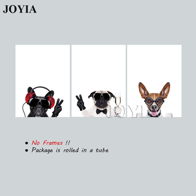 Online Shop Triptych Canvas Art Pet Dogs Animal Wall Pictures ...