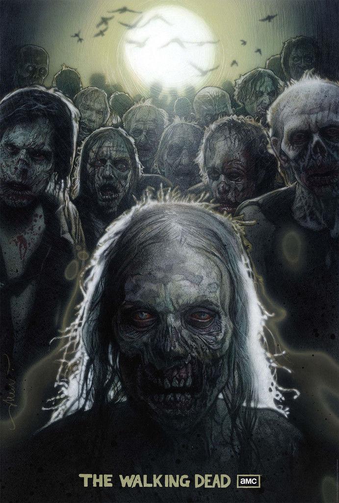 "The Walking Dead <font><b>1</b></font> <font><b>2</b></font> 3 4 TV Zombie Poster <font><b>20</b></font>"" <font><b>x</b></font> 13"" Decor <font><b>23</b></font> CX0801"