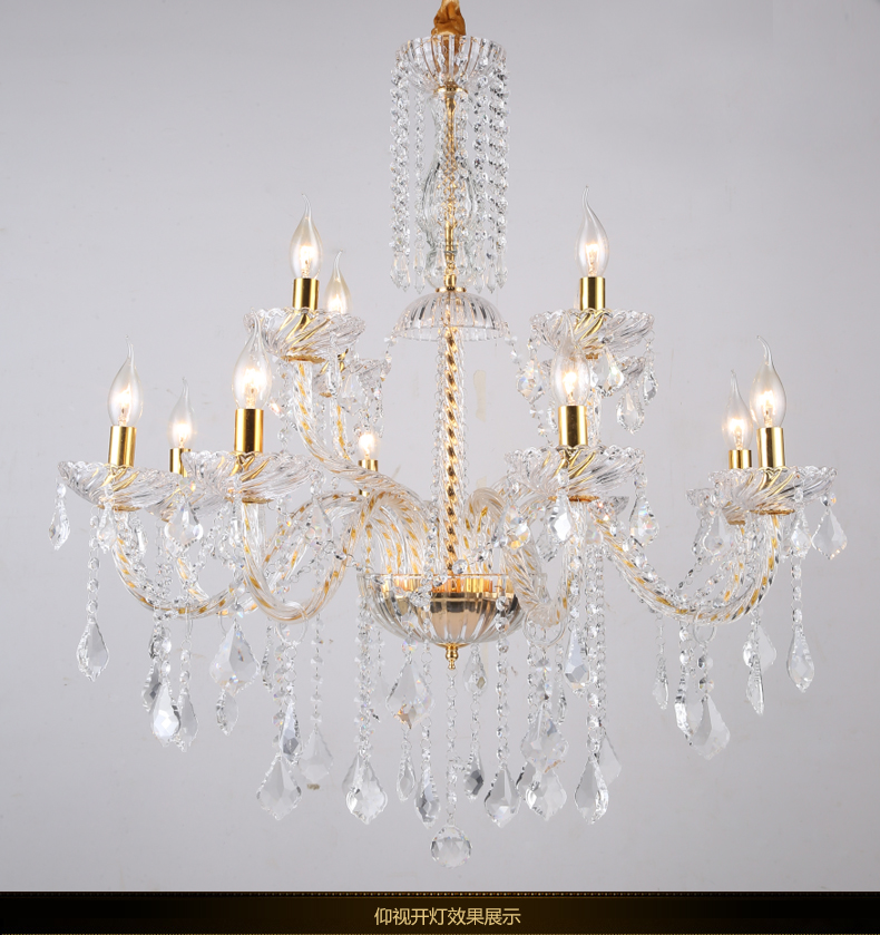 Longree Luxury Candle Crystal Chandelier Lighting Fixtures Modern LED lustres Red Hanging Lamps For Bedroom Living Room new luxury modern crystal chandeliers led living room chandelier lighting fixtures gold plated hanging lights with glass shade