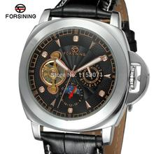 FSG005M3S5 Automatic men's watch with black genuine leather strap gift box free shipping  analog round watch whole sale price