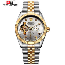 Tevise Fashion Casual Men's Moonpahse 24Hours Auto Flywheel Mechancial Watches Gift Box Free Ship