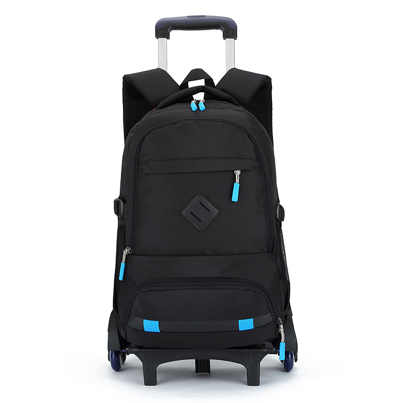 2018 New Kids Boys Girls Trolley Schoolbag Luggage Book Bags Backpack Latest Removable Children School Bags with 6 Wheels Stairs grades 4 9 kids trolley schoolbag book bags boys girls backpack waterproof removable children school bags with 3 wheels stairs