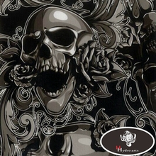 Free Shipping Scary SKULL Water Transfer Printing Film Hydrogarphic Film Aqua Print Film For Motor Decoration HFY-836