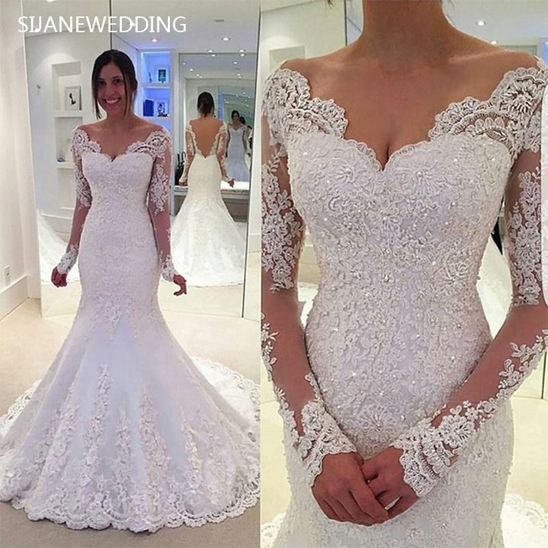 Sijane Vintage Elegance Mermaid Princess Wedding Dresses
