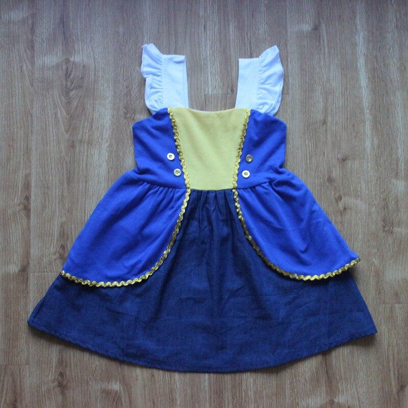 Unicornio niñas princesa algodón bestia Belle vestidos bordado Raibow colorido niño verano niños Alien vestidos
