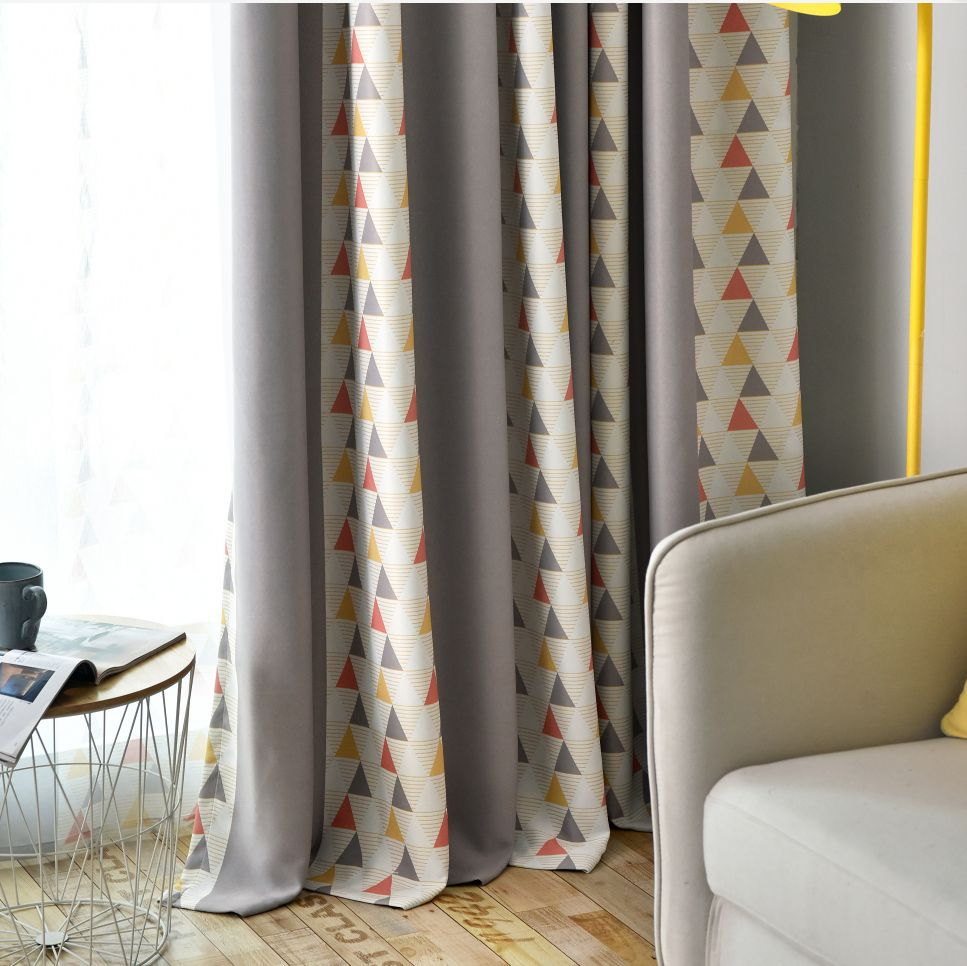 Simple Modern Nordic Stripe Shading Curtains For Living Dining Room Bedroom.
