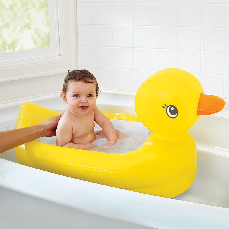 Munchkin White Hot Inflatable Safety Bath Tub Duck 1 count Kids Mini playground солнцезащитные шторки munchkin white hot static cling 2 шт