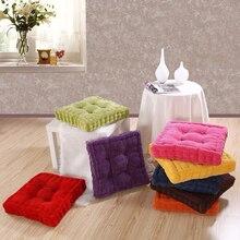 Urijk cojín de asiento redondo elástico de pana de maíz grueso suave almohadas Vintage decorativo de color sólido para sofá Buttocks cojines de silla