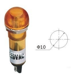 Indicator pilot light XD10-5 DC12V DC24V AC220V 10mm