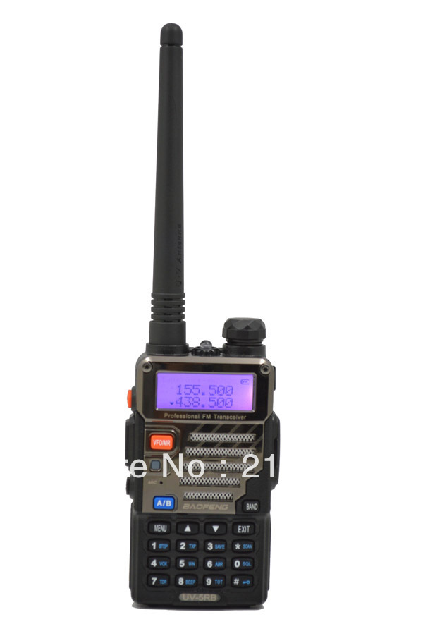 UV-5RB 136-174MHz(RX/TX) & UHF400-520MHz(TX/RX) Dual Band 5W/1W 128CH FM 65-108MHz With Free Earphone Two-way Radio