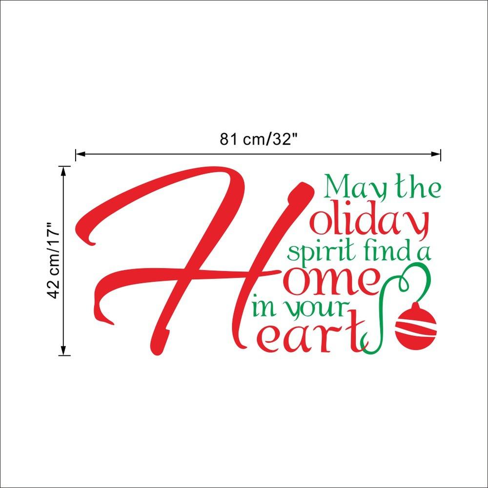 Schöne Frohe Weihnachten Dekoration Englisch Urlaub Wandaufkleber ...