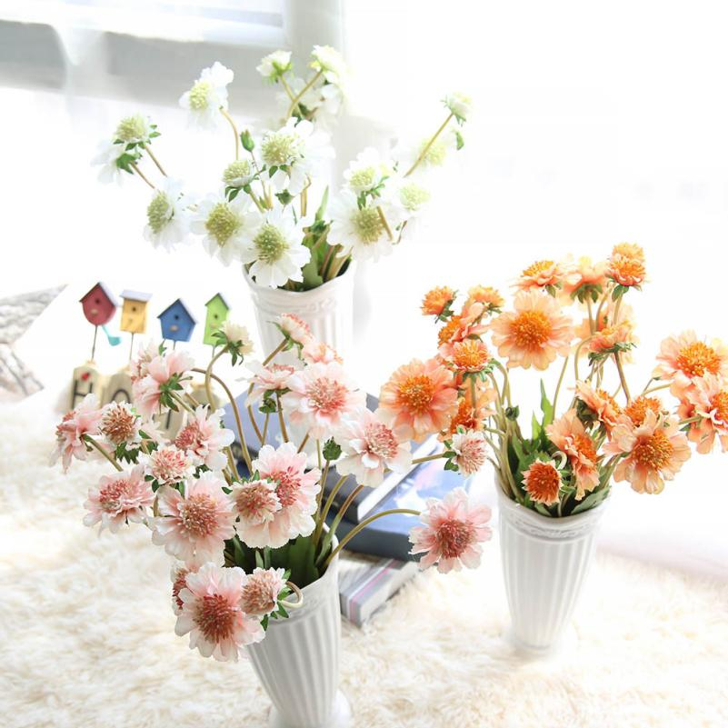 Hot Mutli Colors Small chrysanthemum Faux Artificial Silk Floral Flower Bouquet Party Decor Craft beautiful Gifts nt0