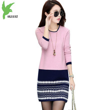 2018 Knitted Dress Women Spring Autumn Warm Sweater Primer shirt Fashion Short Knitted Pullover Plus size Casual Tops OKXGNZ1525