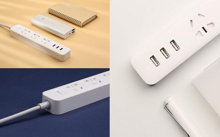 Xiaomi Mi Power Strip 3 Socket 3 USB 9