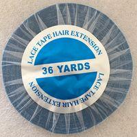 1 рулон 36 ярдов синий синтетические волосы на кружеве ленточное наращивание волос клейкая лента наружная, переплетение лента 0,8/1,0/1,27 см