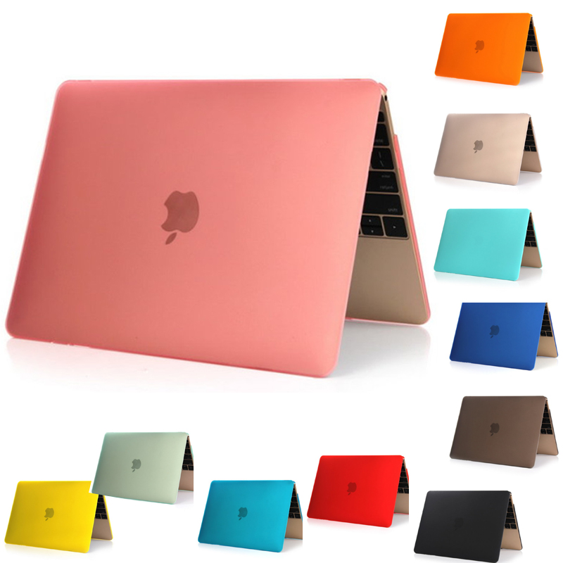 "nuovo Custodia rigida opaca per superficie Frosted Cool per MacBook 12 '' Air 11 ""Custodia rigida per 13"" 13 ""Pro 13"" Pro Retina 13 ""Custodia per laptop 15"" rosa blu"