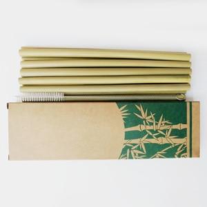 Image 2 - Nuttig 10 stks/set Bamboe Rietjes Herbruikbare Milieuvriendelijke Party Keuken + Schone Borstel voor Drop Verzending groothandel