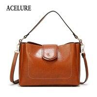 ACELURE Роскошные брендовые сумки женские кожаные сумки большой емкости Ретро Винтажные ручные сумки с ручкой твердые сумки через плечо