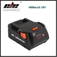 ELEOPTION Haute Capacité 4000 mAh 18 V Li-ion batterie pour RIDGID HYPER COMPACT BATTERIE CS0921 R84008 R840083 AC840084