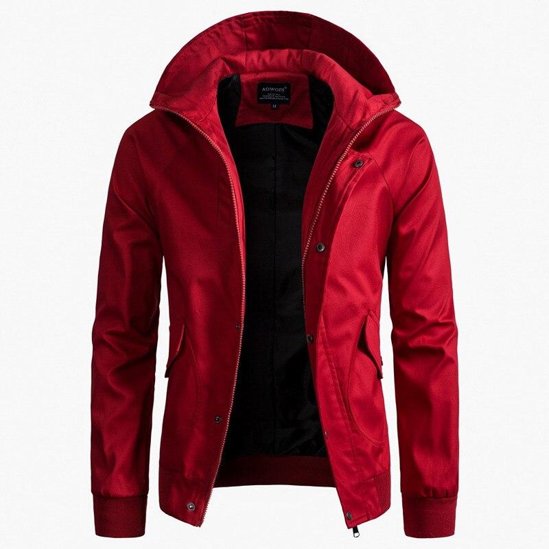 Trench Coat Men Classic Zip Mens Long Coat Mens Clothing Long Jackets Coats Hoody US Size