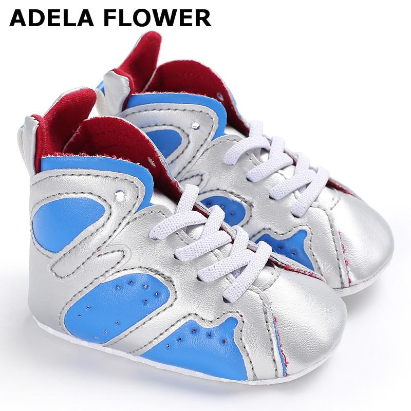 Adela Flower PU Leather Baby Sneaker Sport Shoes For Girls Boys Baby Walker Infant Toddler Soft Bottom Anti-slip First Walkers
