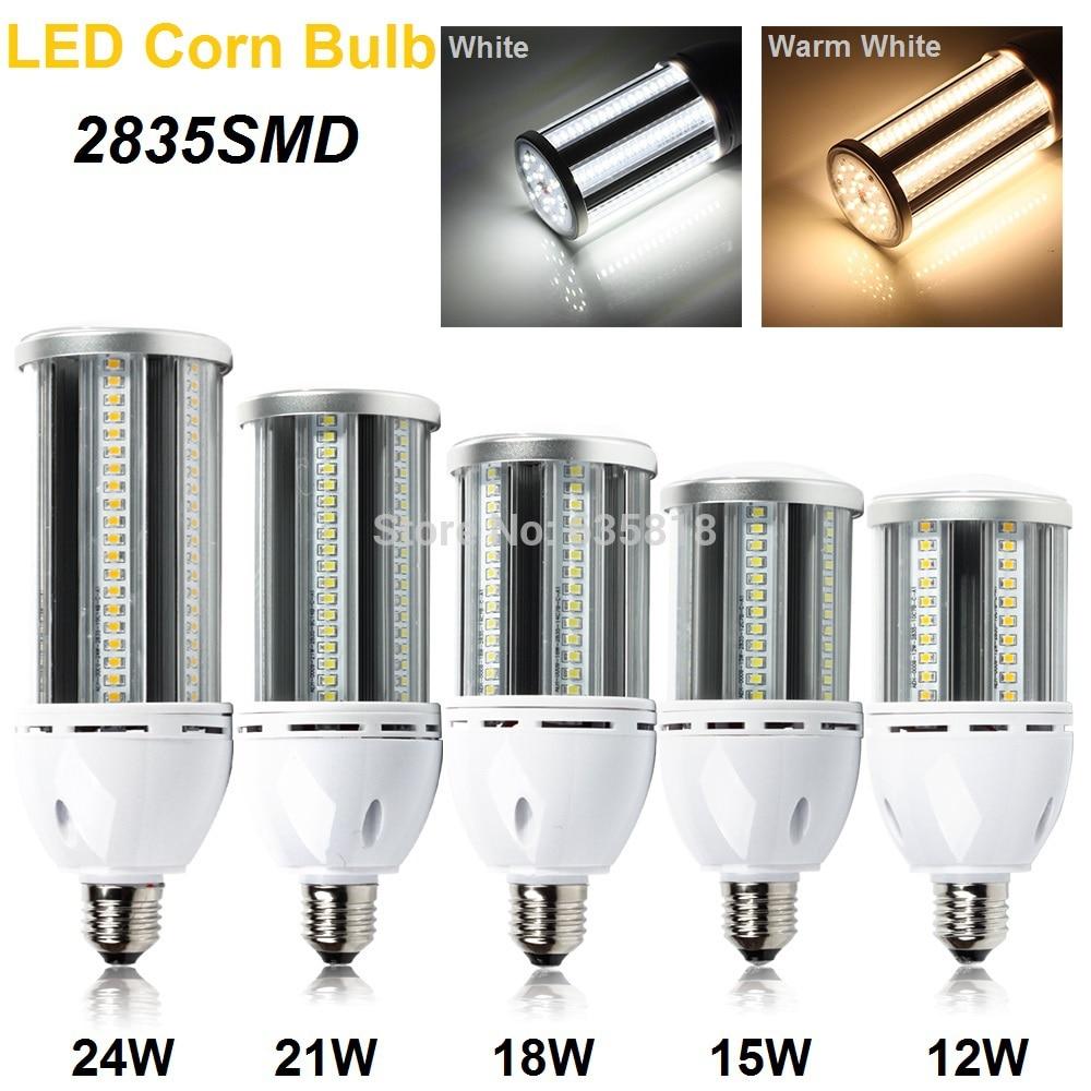 ФОТО 5pcs/lot E27 LED Corn Light Bulb Lamp Maize Light AC85-265V 12W/15W/18W/21W/24W White/Warm White Drop Shipping/Free Shipping
