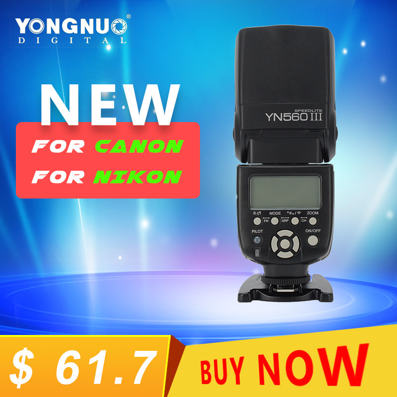 YongNuo YN560 III YN-560 III YN560III Universal Wireless Flash Speedlite For Canon For Nikon For Pentax For Panasonic Vs JY-680A yongnuo yn560 iii yn 560 iii yn560iii universal wireless flash speedlite for canon nikon pentax panasonic olympus vs jy 680a