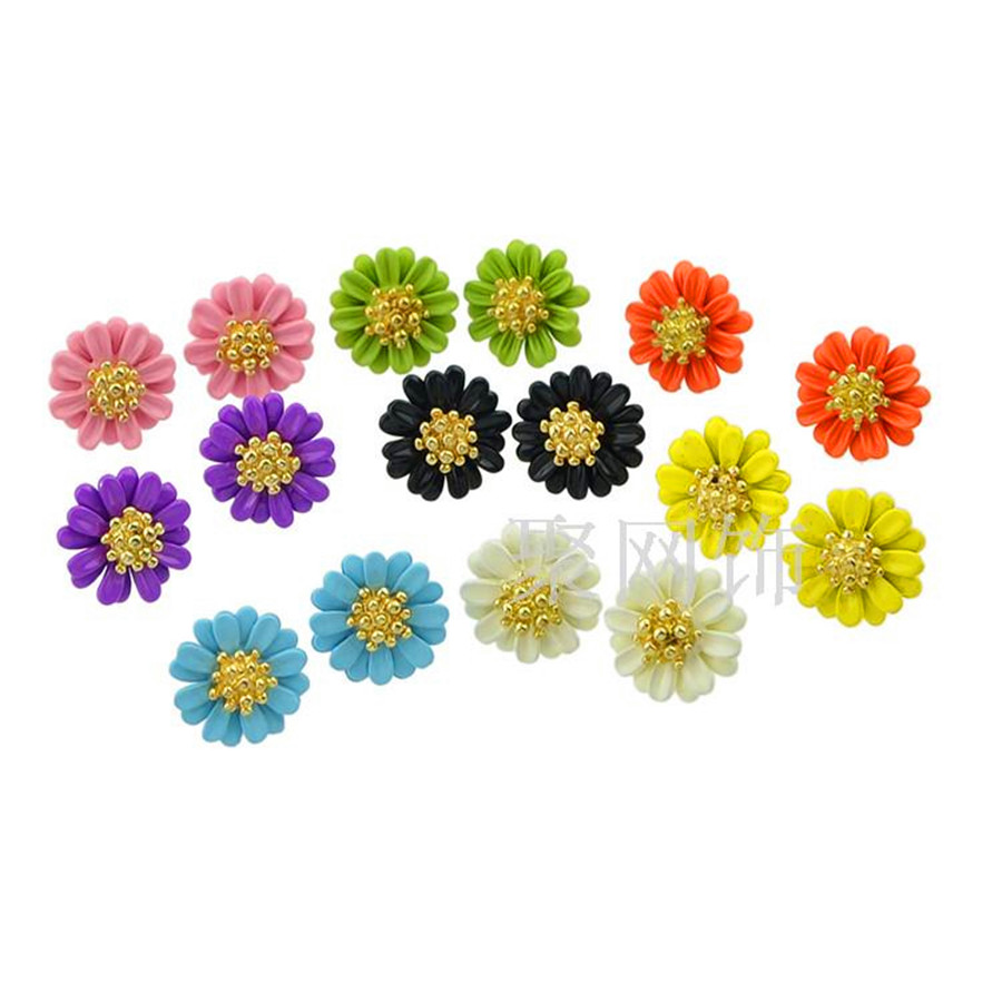 Women wholesale jewelry popular girl chinese wind multicolor alloy women wholesale jewelry popular girl chinese wind multicolor alloy daisy flowers stud earrings layer noble gift earrings in jewelry sets from jewelry izmirmasajfo