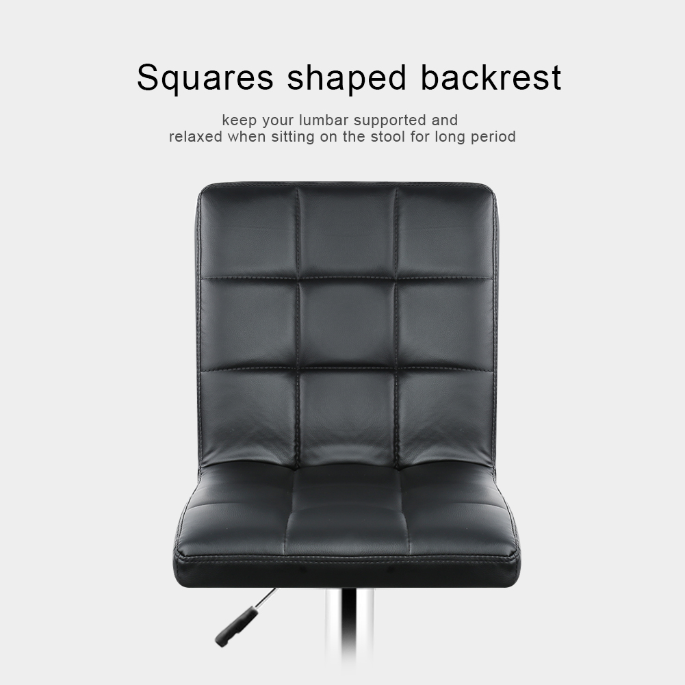 2pcs Fashion Adjustable Gas Lift Bar Stools Bar Chairs Modern PU Leather Hollow Backrest Kitchen Home Bar Furniture Chair HWC excellent quality simple modern stools fashion fabric stool home sofa ottomans solid wood fine workmanship chair furniture