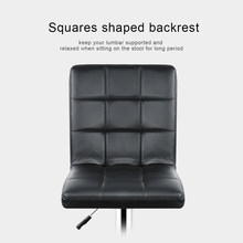 2pcs Fashion Adjustable Gas Lift Bar Stools Bar Chairs Modern PU Leather Hollow Backrest Kitchen Home Bar Furniture Chair HWC(China)