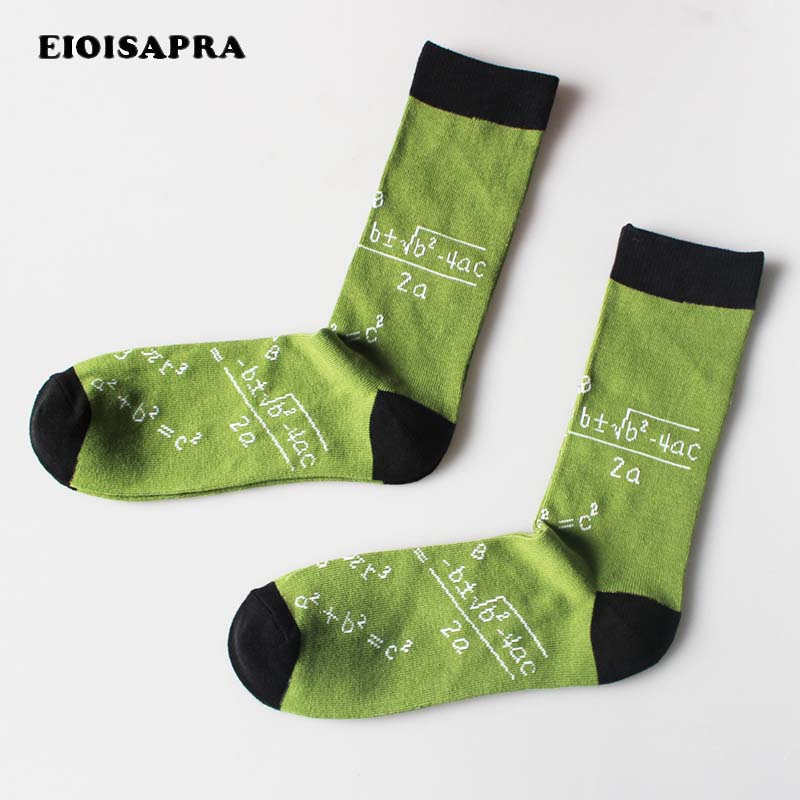 [EIOISAPRA]New Product Digital   Socks   Men Absorb Sweat Breathable Casual   Socks   Funny Mathematics Meias Comfort Soft Calcetines