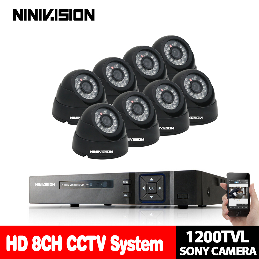 NINIVISION 8CH DVR Kit 1080P HDMI CCTV System 8 channel AHD DVR Recorder 1200TVL IR indoor 1.0MP Dome Camera System mobile viewNINIVISION 8CH DVR Kit 1080P HDMI CCTV System 8 channel AHD DVR Recorder 1200TVL IR indoor 1.0MP Dome Camera System mobile view