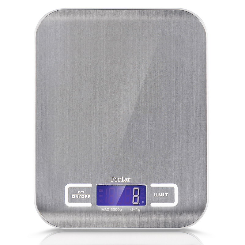 5Kg/1g Kitchen Digital Scale Cooking <font><b>Measure</b></font> Tools Stainless Steel Electronic Weight Scales LED Weight Balance