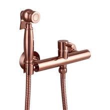 Розовое Золотое вакуумное напыление настенный ручной биде спрей Shattaf douche комплект распылитель струи+ горячий и холодный смеситель клапан