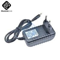 Ue plugue adaptador ac 100-240 v para dc 12 v 2a fonte de alimentação conversor led luz d conversor soquete para led tira lâmpada