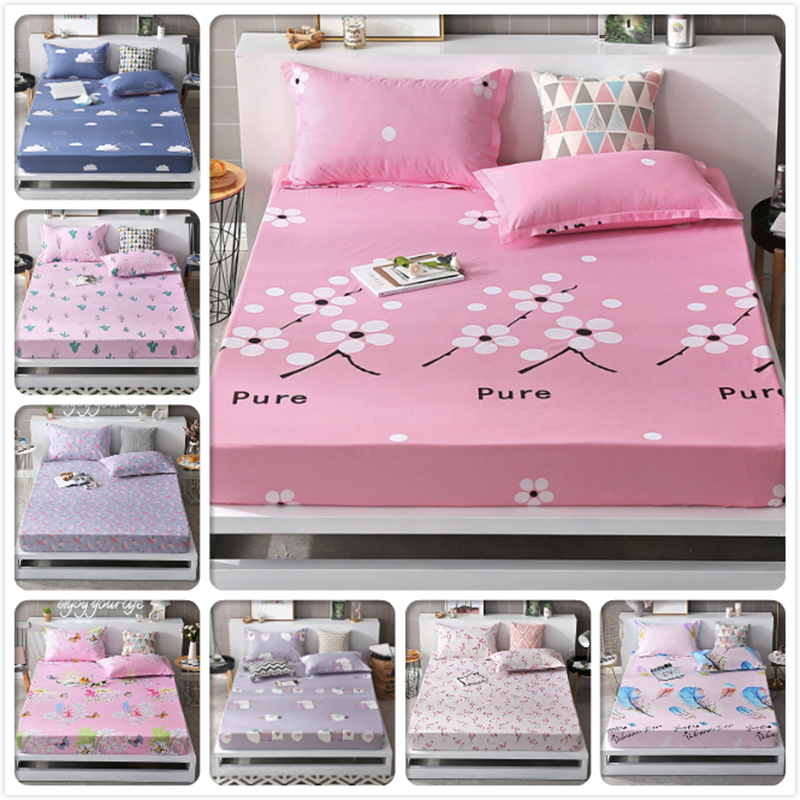 Entertainment Memorabilia Beautiful Cotton Bed Skirt Cover Sheet With Elastic Floral Bedlinen Single Double King Full Twin Twill Size Bed Sheet Set For Kids Girls