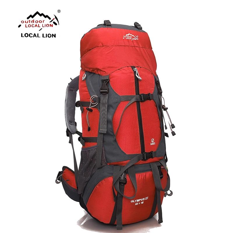 locallion 65l pacote escalada ao ar livre de viagem de acampamento mochila mochila esporte caminhadas mochila